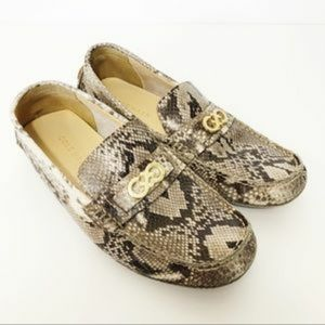 Cole Haan Snakeskin Loafers Size 5 Womens